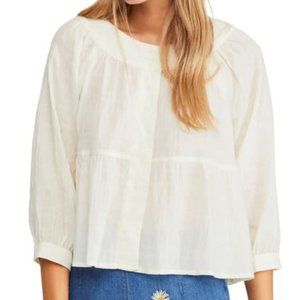 NWT FREE PEOPLE Sea to Shore Blouse